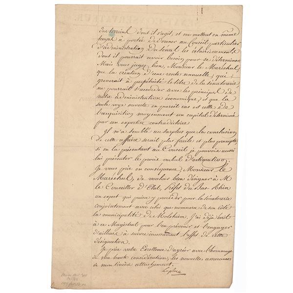 Pierre-Simon Laplace Document Signed