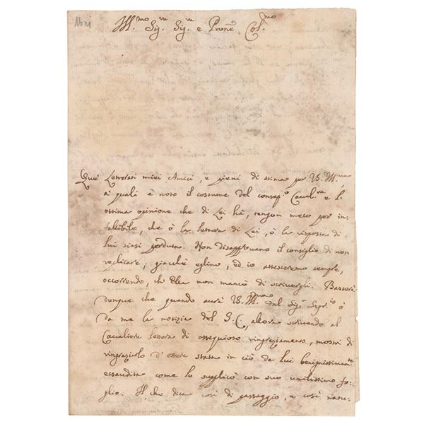 Giovanni Battista Morgagni Autograph Letter Signed