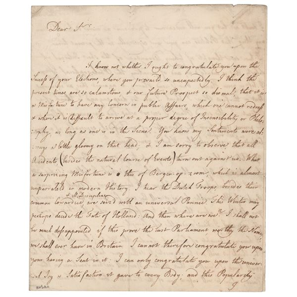 David Hume Autograph Letter Signed