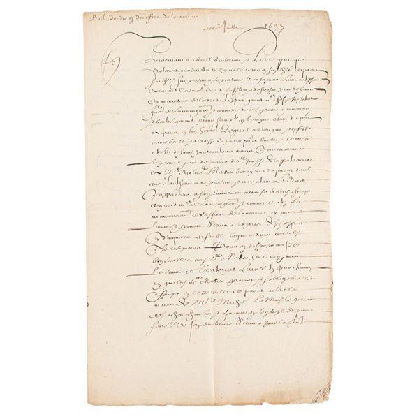 Cardinal Richelieu Document Signed