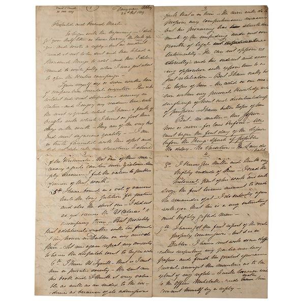 Daniel O'Connell Autograph Letter Signed