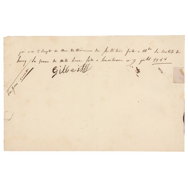 Countess Marie du Barry Autograph Document Signed