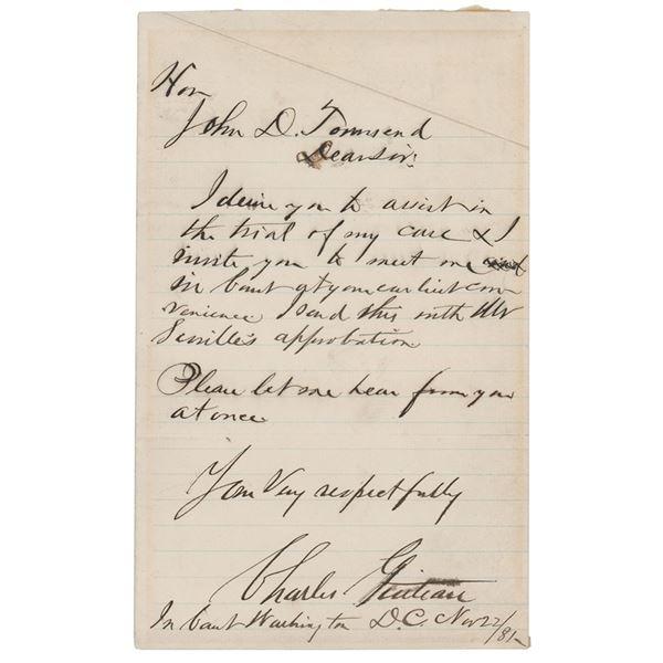 Charles Guiteau Autograph Letter Signed