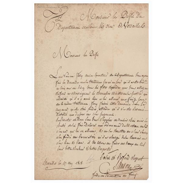 Charles-Henri Sanson Letter Signed