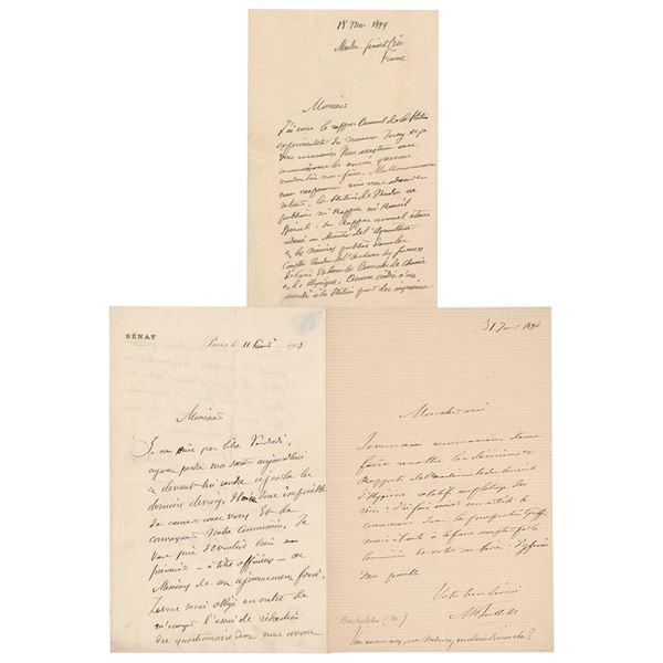 Marcellin Berthelot (3) Autograph Letters Signed