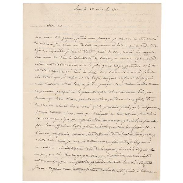 Jean-Baptiste Biot Autograph Letter Signed
