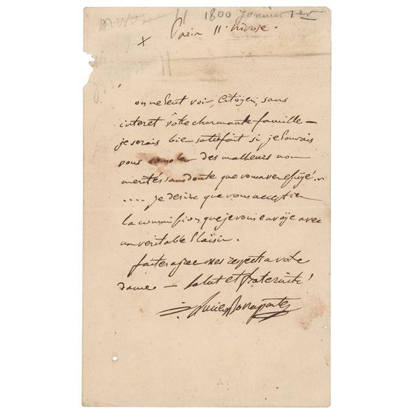 Lucien Bonaparte Autograph Letter Signed