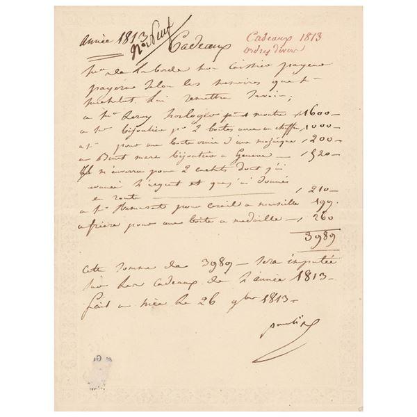 Pauline Bonaparte Autograph Letter Signed