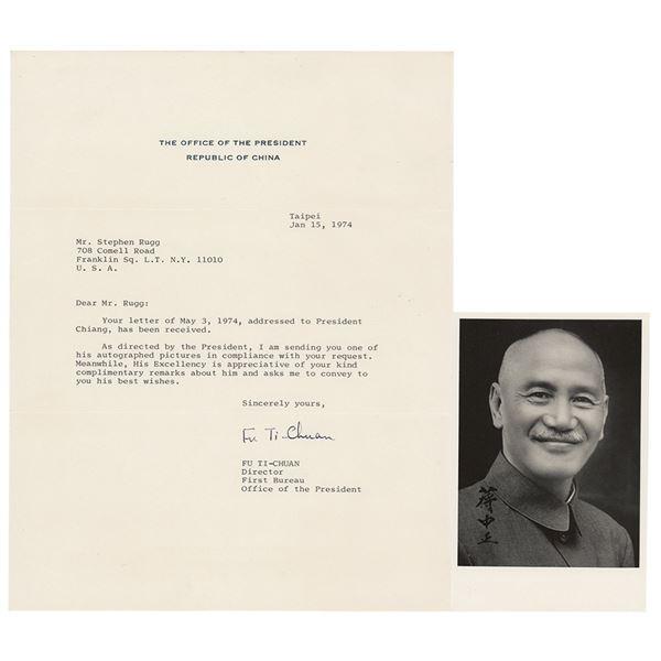 Chiang Kai-Shek Signed Photograph