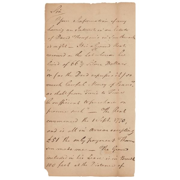 George Clymer Autograph Letter Signed