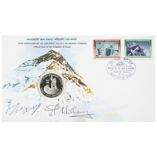 Edmund Hillary and Tenzing Norgay Signed Commemorative Cover