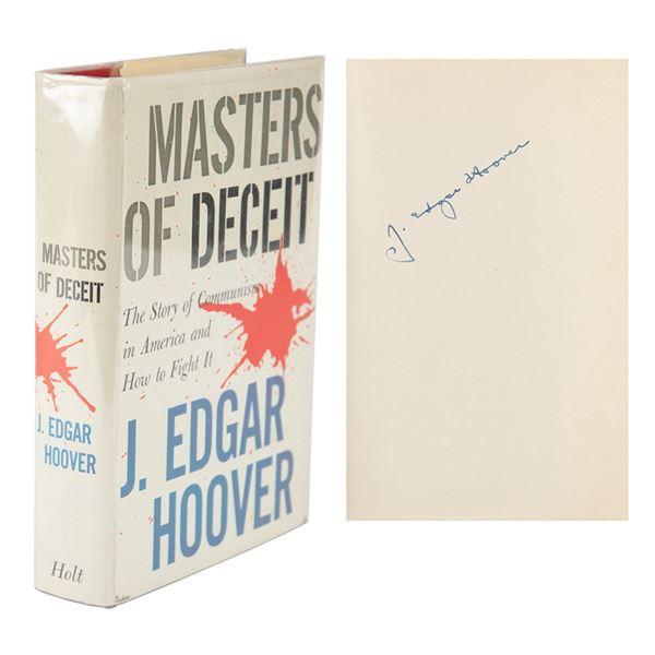 J. Edgar Hoover Signed Book