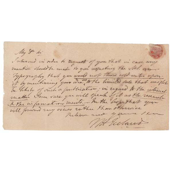 William Henry Ireland Autograph Letter Signed