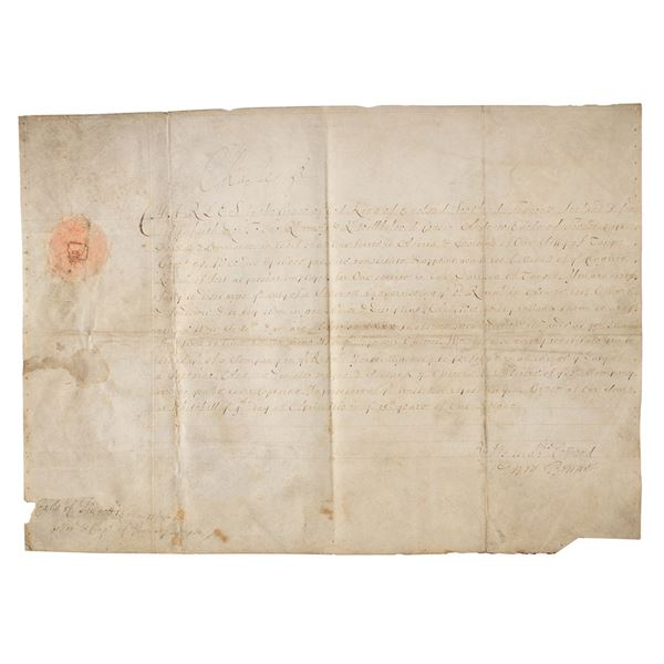 King Charles II Document Signed