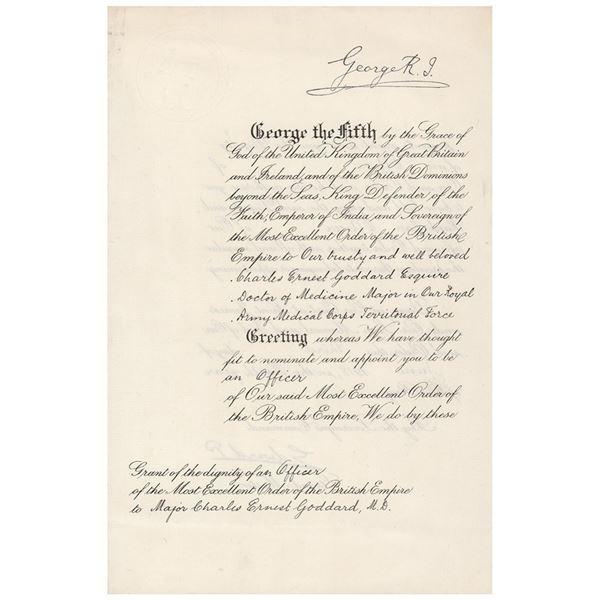 King Edward VIII Document Signed
