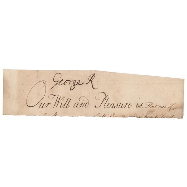 King George I Signature