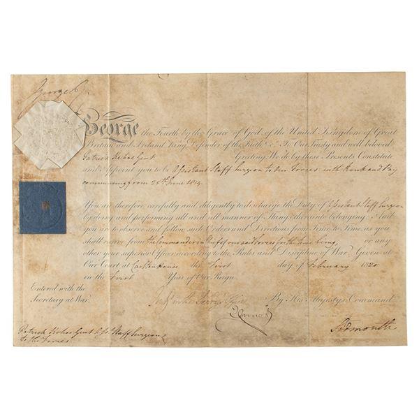 King George IV Document Signed