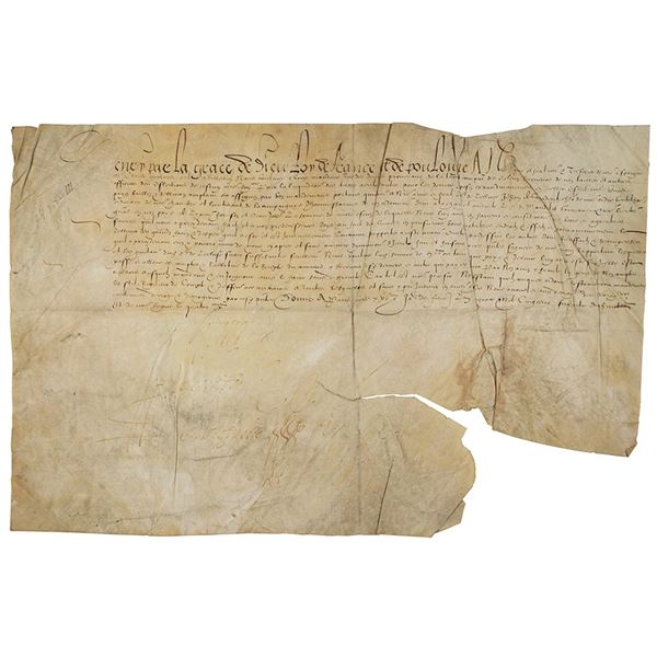 King Henry III Document Signed