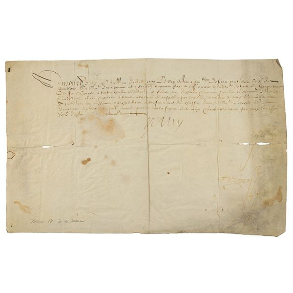 King Henry IV Document Signed