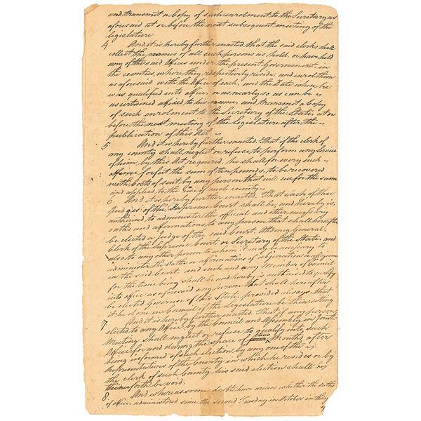William Livingston Document Signed