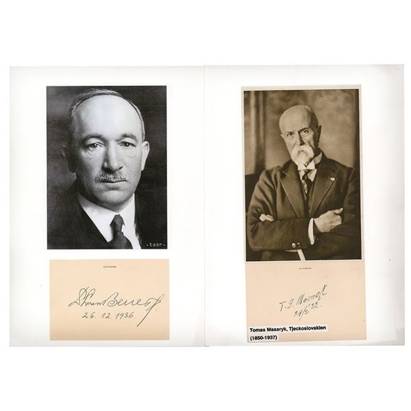 Tomas Masaryk and Edvard Benes Signatures