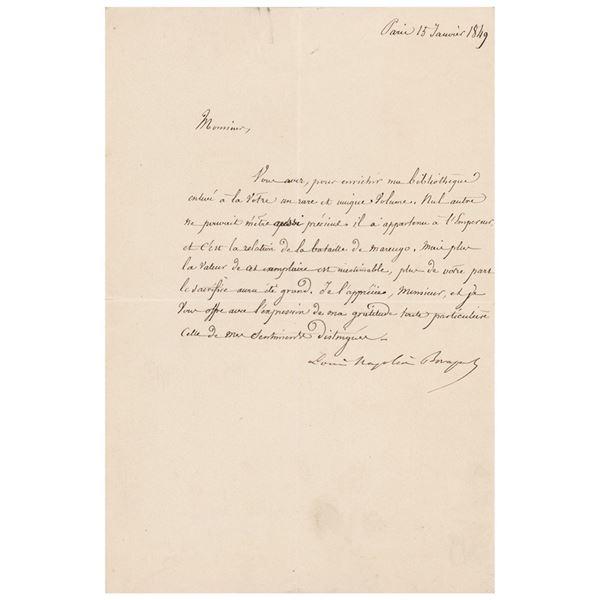 Napoleon III Letter Signed