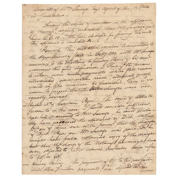 Timothy Pickering Autograph Letter Signed