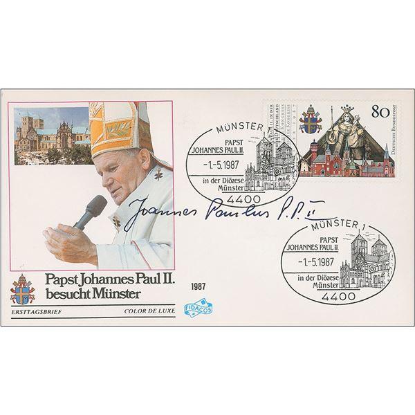Pope John Paul II Signed Cover