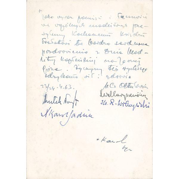 Pope John Paul II Signed Photograph