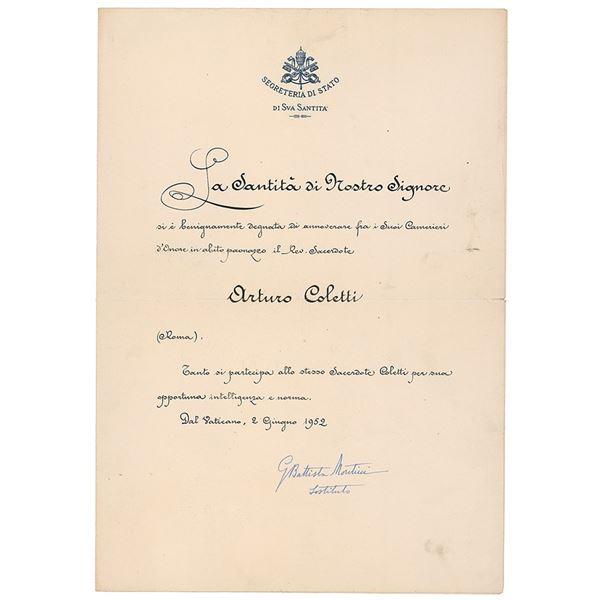 Pope Paul VI Document Signed