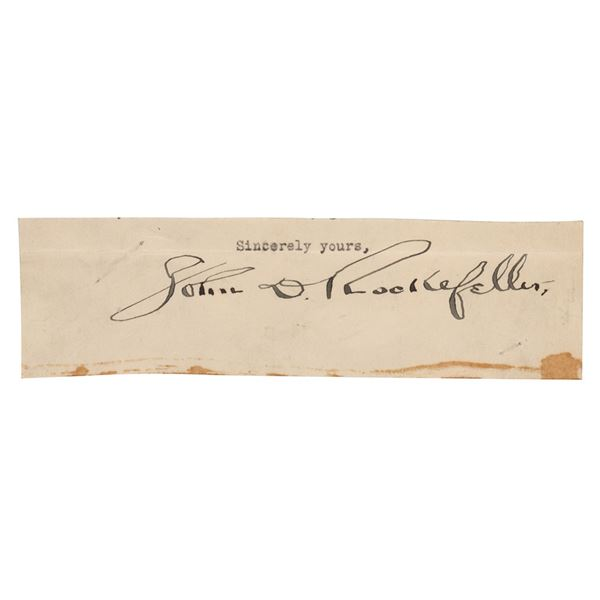 John D. Rockefeller Signature