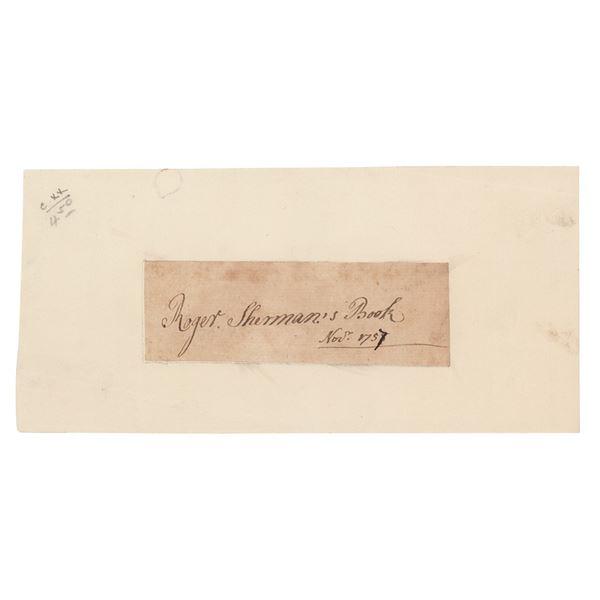 Roger Sherman Signature