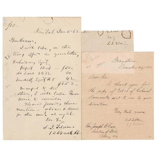 Samuel J. Tilden (3) Signed Items