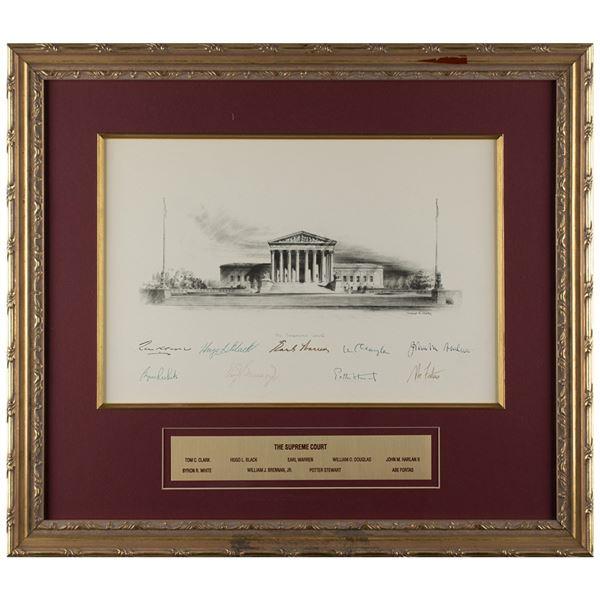 Warren Court Signed Engraving