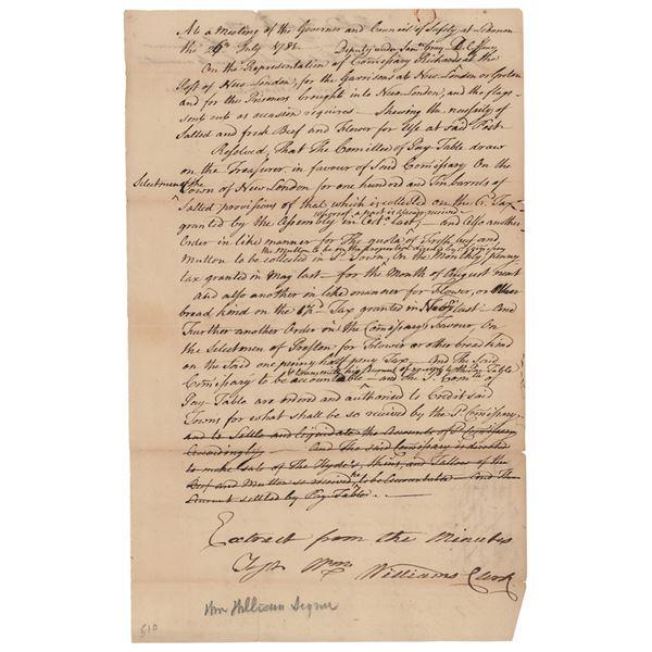 William Williams Document Signed
