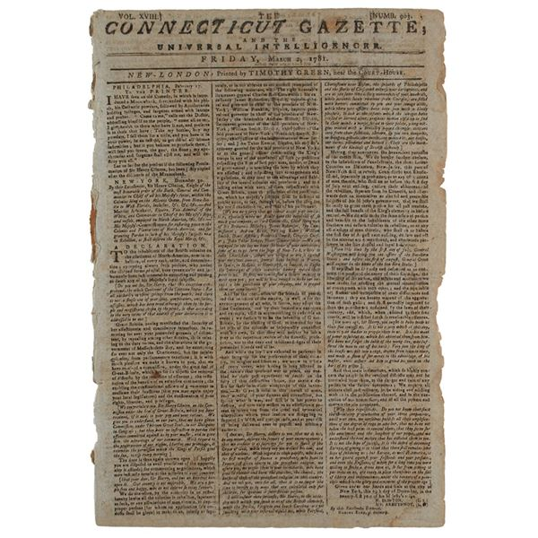 The Connecticut Gazette; and the Universal Intelligencer (March 2, 1781)