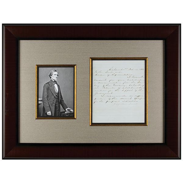 Jefferson Davis Letter Signed