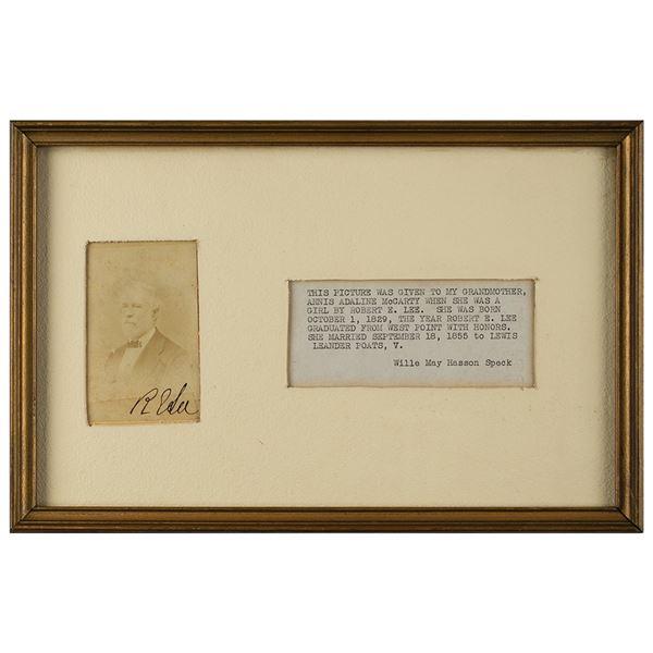 Robert E. Lee Signed Carte-de-Visite Photograph