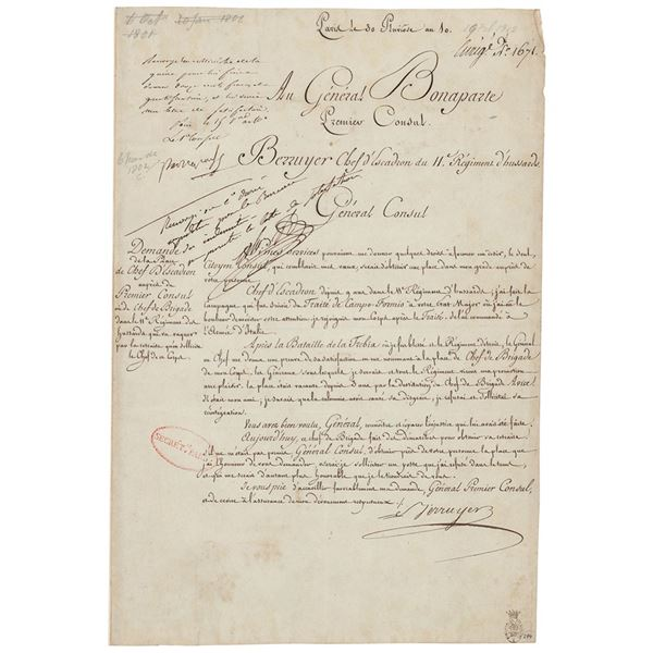 Napoleon Signed Endorsement