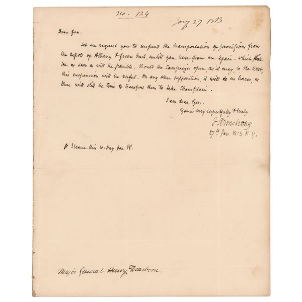 John Armstrong Autograph Letter Signed