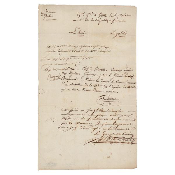 Jean-Baptiste Bernadotte Document Signed