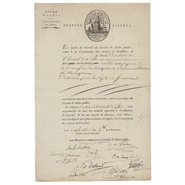 Lazare Carnot Document Signed