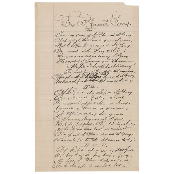 Civil War: Private Dalzell Autograph Manuscript Signed