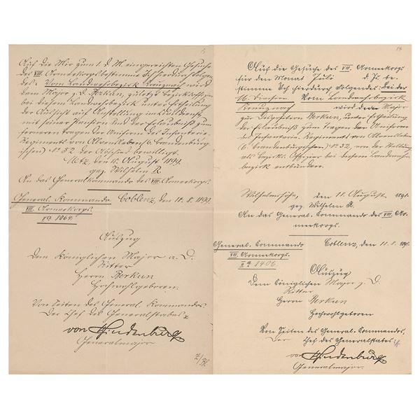 Paul von Hindenburg (3) Signed Items