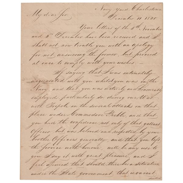 Isaac Hull Letter Signed