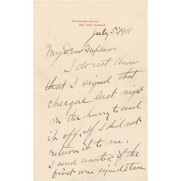 Nelson A. Miles Autograph Letter Signed