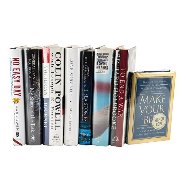 Military (8) Signed Books