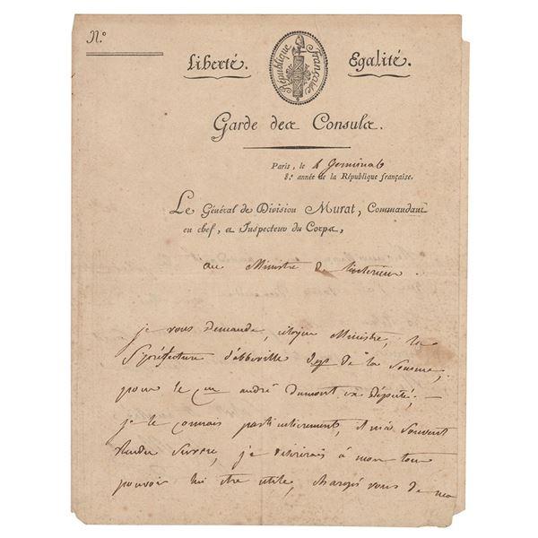 Joachim Murat Autograph Document Signed