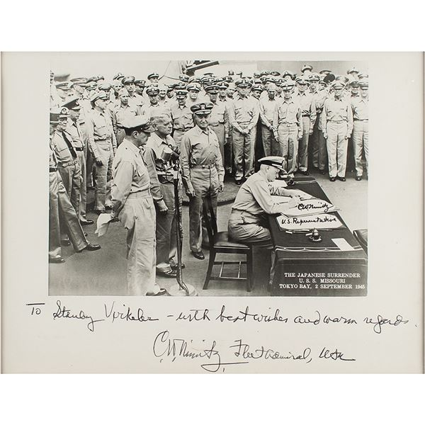 Chester Nimitz Signed Photograph