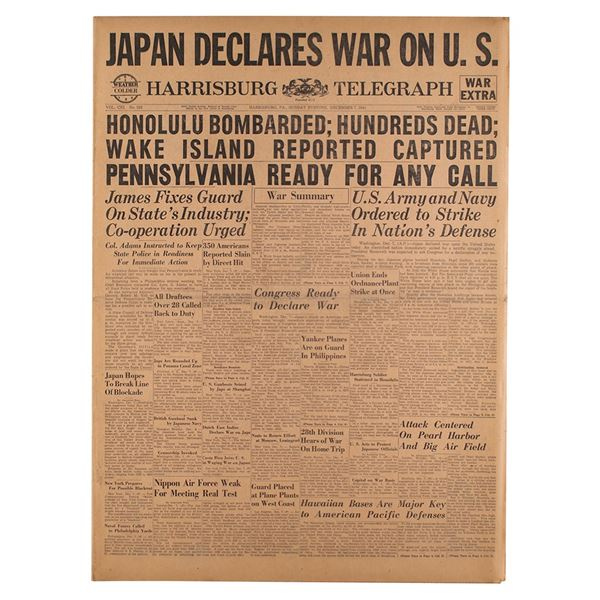 Pearl Harbor Newspaper